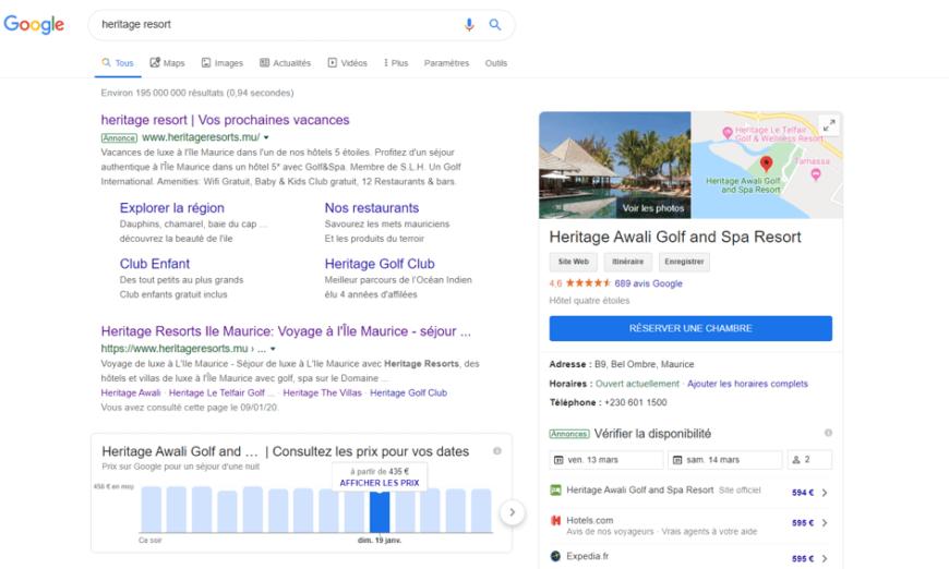Vos Campagnes Hotels Ads dans Google Ads