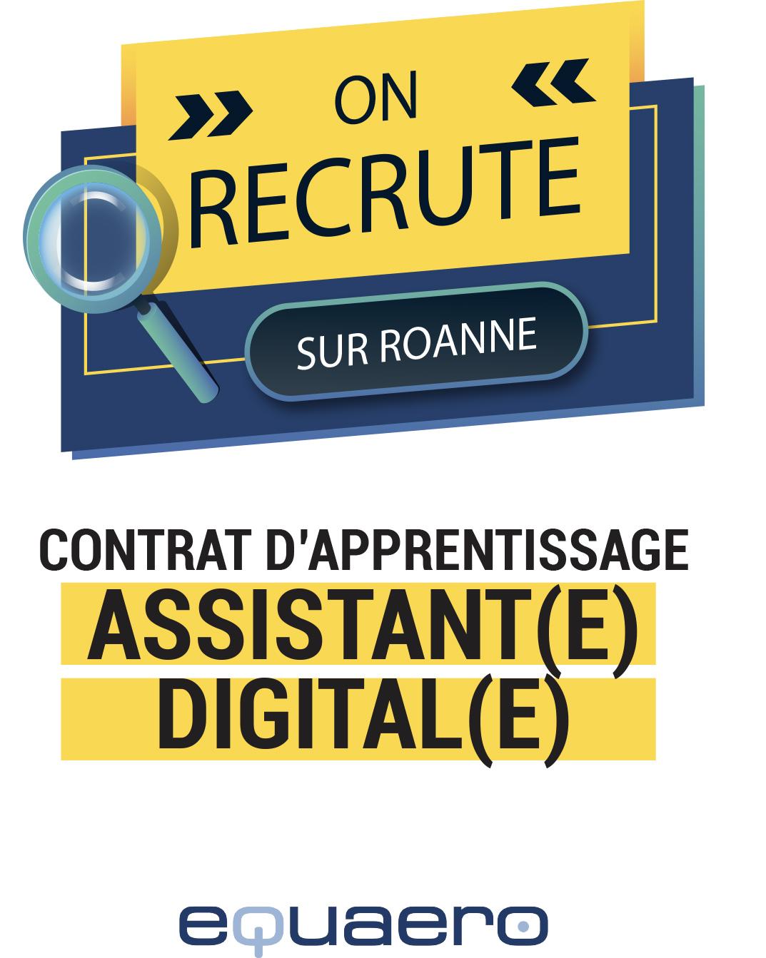 Recrutement : Assistant(e) Digital(e) Junior Contrat Pro / Alternance